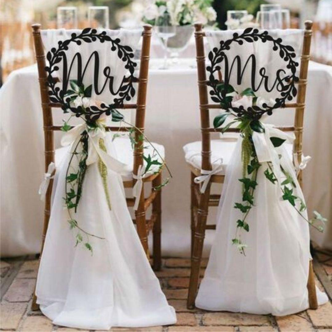 Présentation, chaises, mariage, décoration, wedding planner, Rose Lovers